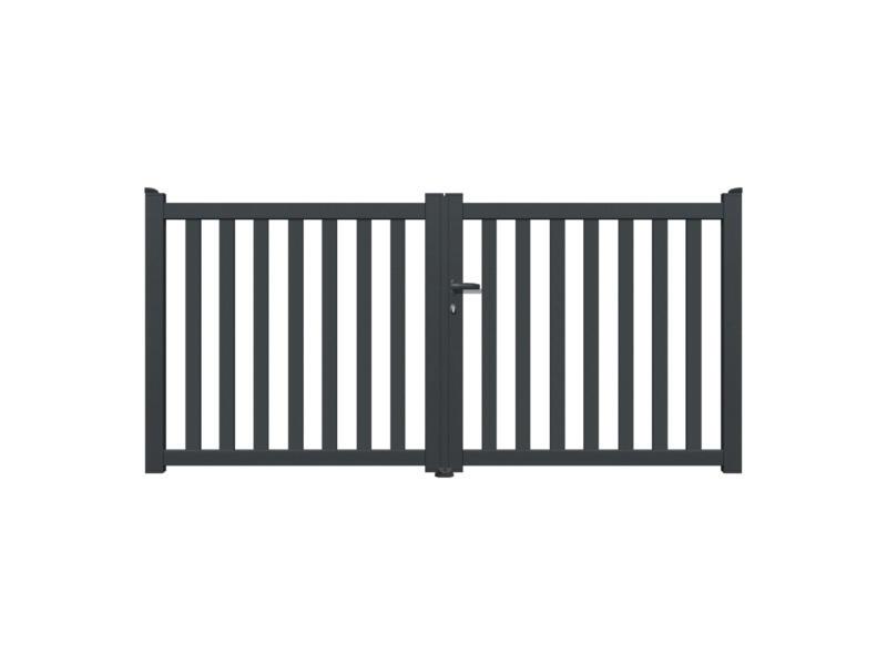 Baza portail battant 350x140 cm anthracite