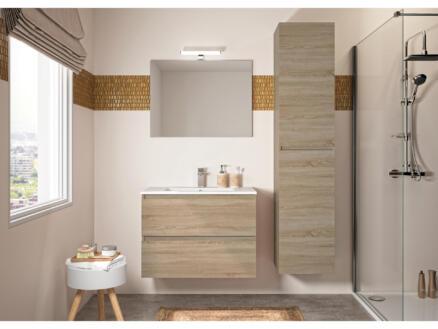 Allibert Bazil meuble salle de bains 80cm 2 tiroirs chêne