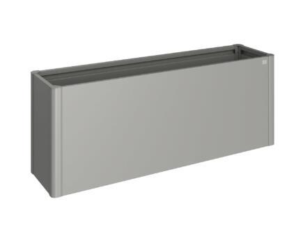 Biohort Belvedere moestuinbak 53x201 cm kwartsgrijs metallic