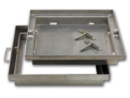Betegelingsdeksel 49x49 cm aluminium