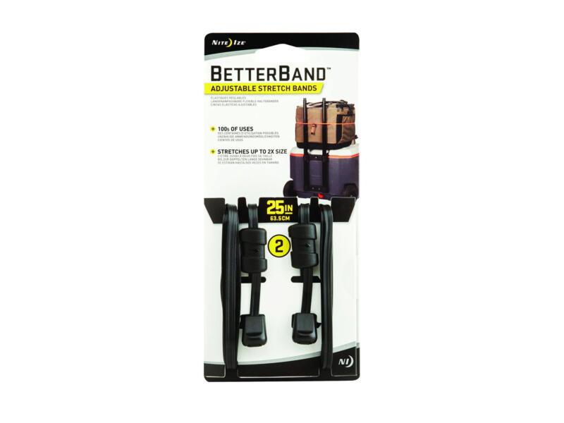 Nite Ize BetterBand band elastisch 63,5cm zwart 2 stuks