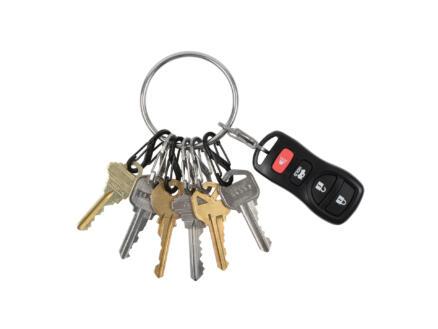 Nite Ize BigRing sleutelring + S-Biner S-karabijnhaak 8 stuks
