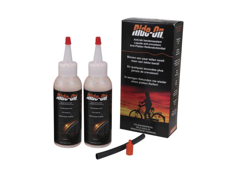 Bike-On bandenreparatiegel voor volwassen fiets 2x 125ml