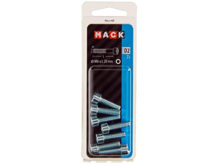 Mack Binnenzeskantbout M6 20mm verzinkt 7 stuks
