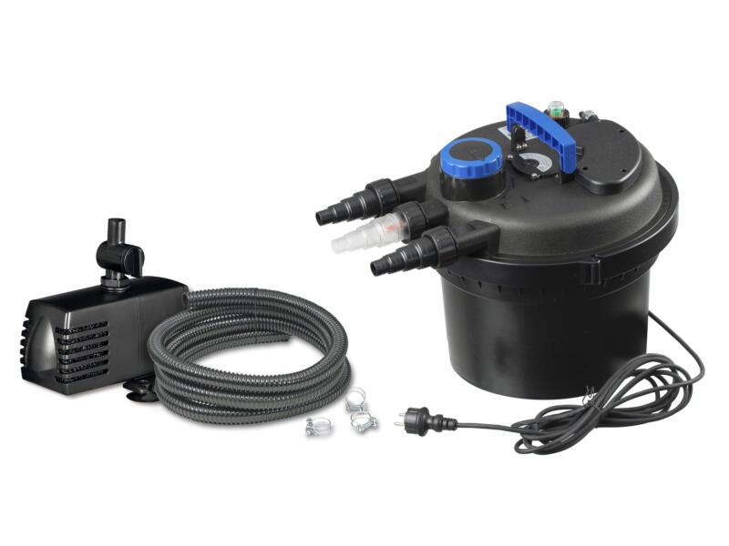 Ubbink Biopressure II 3000 PlusSet filtre pour bassin de jardin + pompe et filtre UV