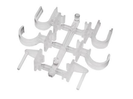 Bistro support de serrage pour tringle transparent 2 pièces