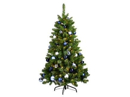 Blackhill sapin décoré & illuminé 180cm argent/bleu + 250 LED