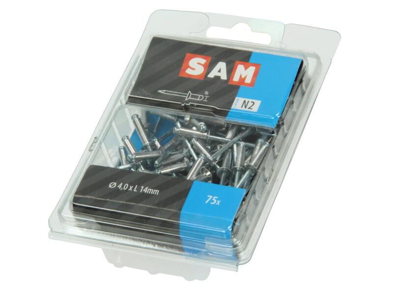 Sam Blindniet 4x14 mm aluminium 75 stuks