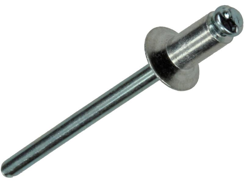 Sam Blindniet 4x8 mm aluminium 37 stuks