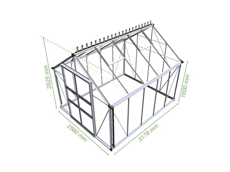 Royal well Blockley 108 serre polycarbonate vert
