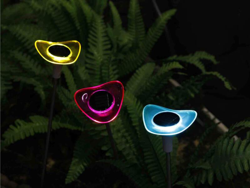 Garden Plus Bloem LED lamp solar 3 kleuren