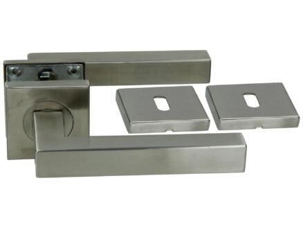 Yale Bo BB deurklinkset op rozet 53mm inox