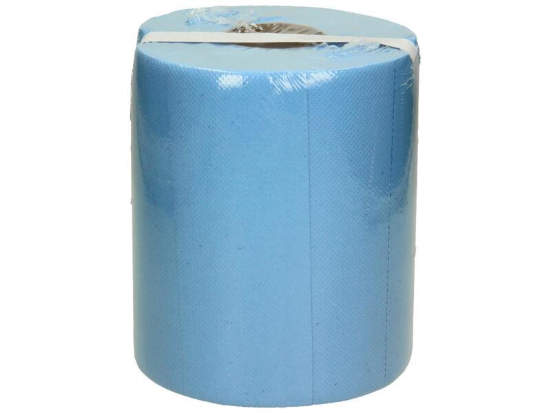 Bobine de nettoyage industrielle 2 couches 65m x 20cm bleu