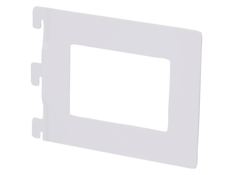 Boekensteun 14,2x11,8 cm wit