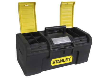 Stanley Boîte à outils 39,4x22x16,2 cm + fermeture automatique
