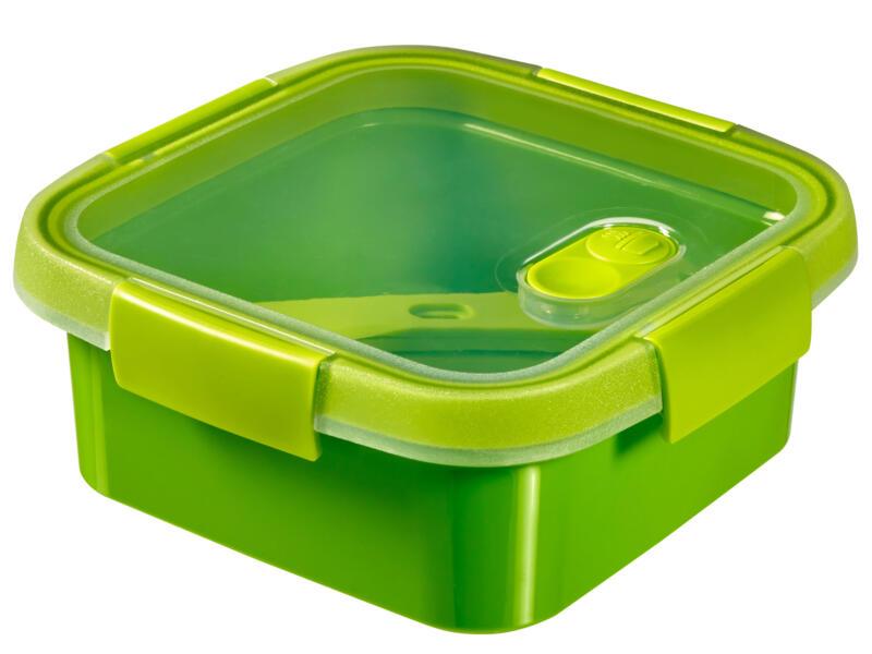 Curver Boîte à repas avec couverts Smart To Go 900ml carré