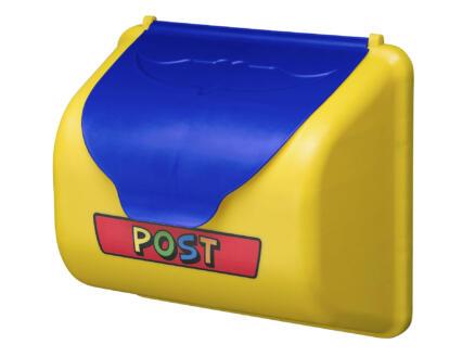 Boîte aux lettres jaune et bleu