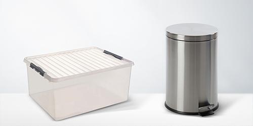 Boîtes de rangement & poubelles