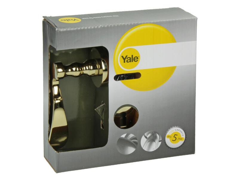 Yale Bolero BB poignée de porte avec rosaces 51mm set complet laiton poli