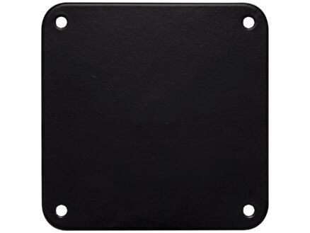 Bonita pied de meuble rond 76mm 90cm métal noir