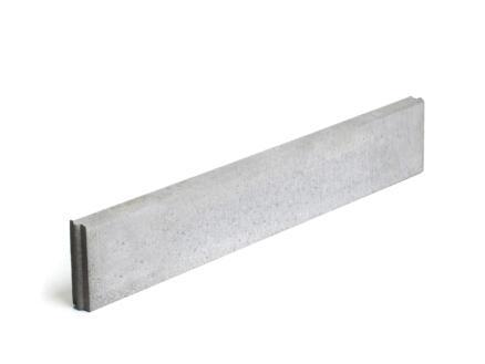 Boordsteen 100x15x5 cm grijs
