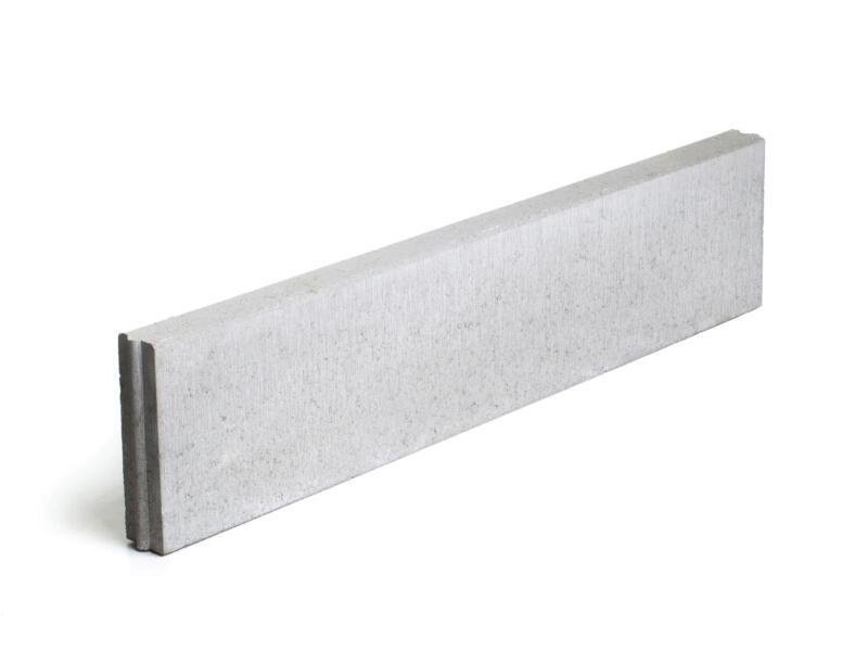 Boordsteen 100x20x6 cm grijs