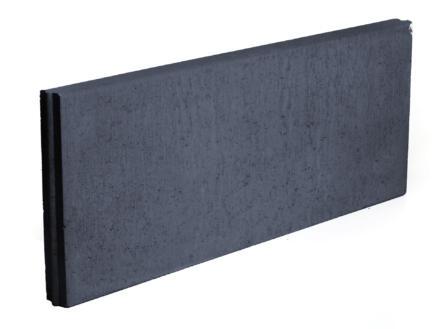 Boordsteen 100x40x6 cm zwart