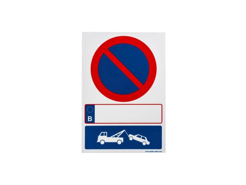 Bord parkeerverbod en wegsleepregeling 33x23 cm