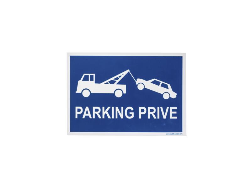 Bord parking privé 33x23 cm