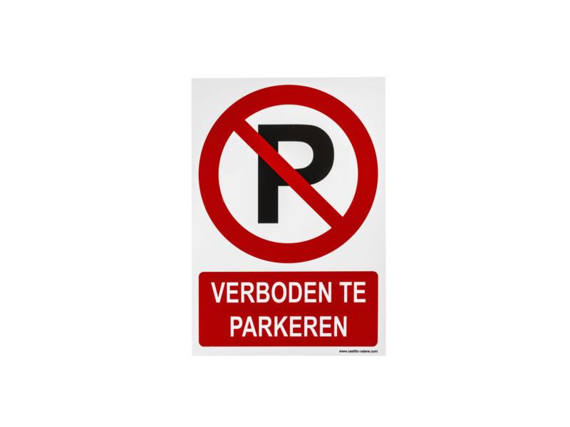 Bord verboden te parkeren 23x33 cm