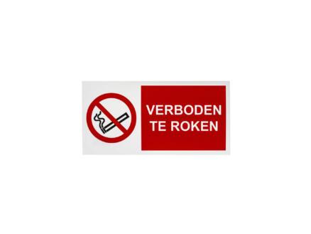 Bord verboden te roken 15x30 cm