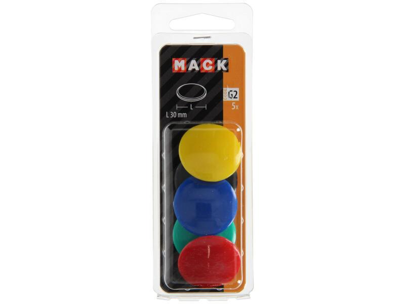 Mack Bordmagneet assortiment 30mm 5 stuks