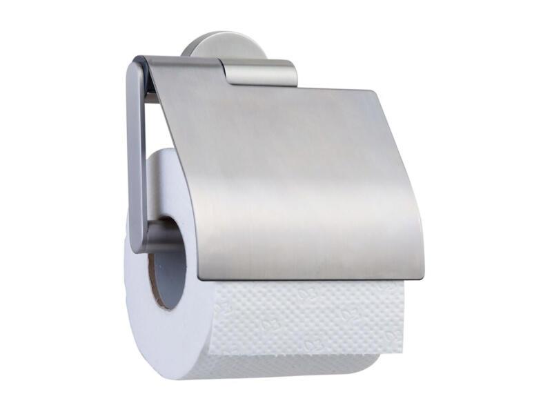 Tiger Boston porte-papier toilette avec couvercle inox brossé