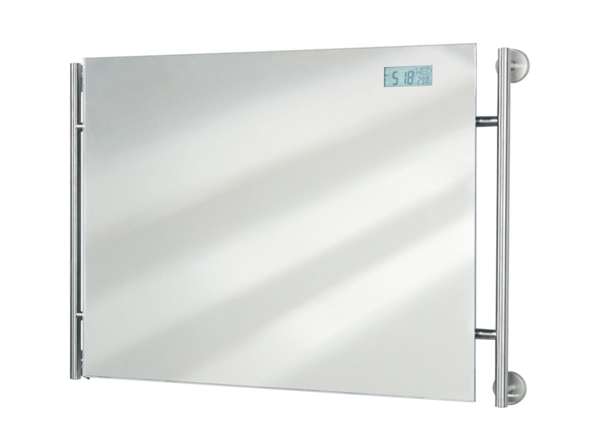 Spiegel Met Klok : Tiger boston spiegel met digitale klok en thermometer 73x53 cm