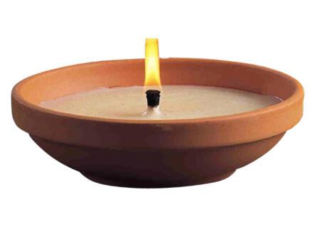 Bougie extérieure pot en terre cuite 20cm ivoire
