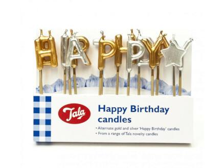 Bougies d'anniversaire or/argent 14 pièces