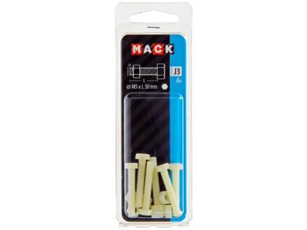 Mack Boulon de pression avec écrou M5 30mm nylon 6 pièces