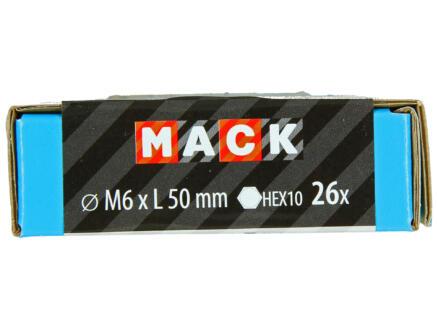 Mack Boulon de pression avec écrou M6 50mm zingué 26 pièces