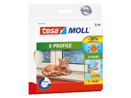 Tesa Bourrelet E 6m 0,9cm blanc