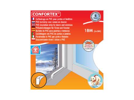 Confortex Bourrelet portes & fenêtres 18m 0,4cm blanc
