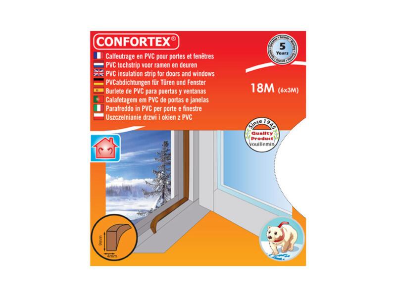 Confortex Bourrelet portes & fenêtres 18m 0,4cm brun