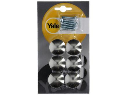 Yale Bouton de meuble 30mm inox 6 pièces
