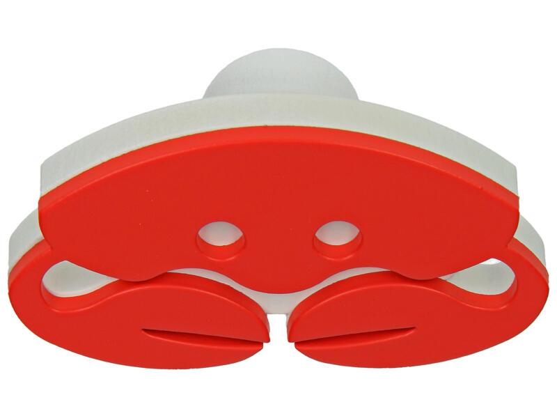 Sam Bouton de meuble Crabe rouge et blanc