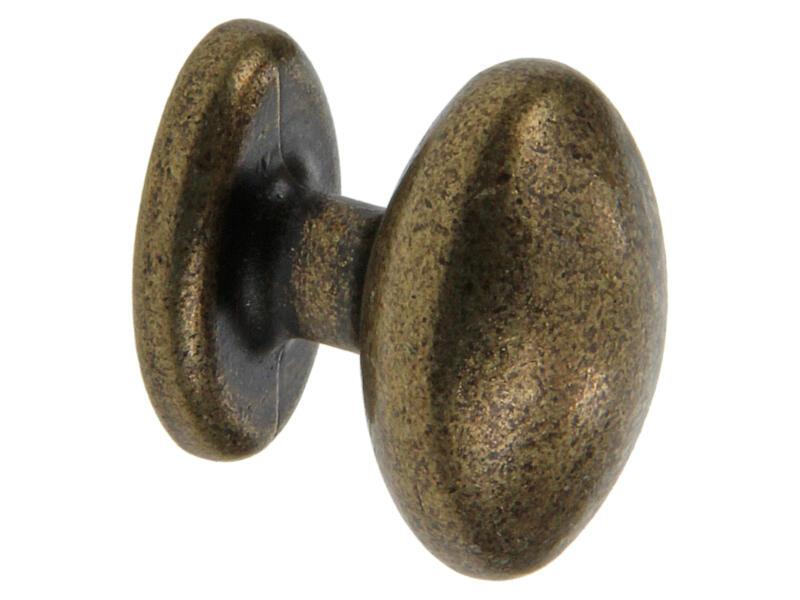 Sam Bouton de meuble avec rosace 28mm bronze
