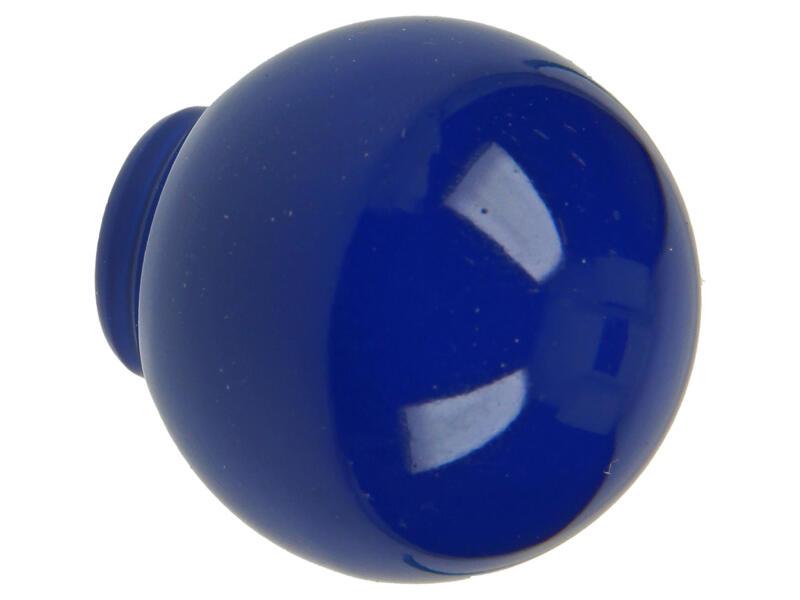 Sam Bouton de meuble boule 29mm matière synthétique bleu foncé 2 pièces