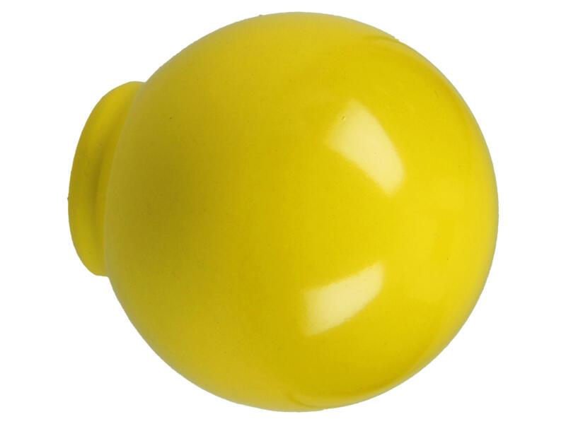 Sam Bouton de meuble boule 29mm matière synthétique jaune 2 pièces