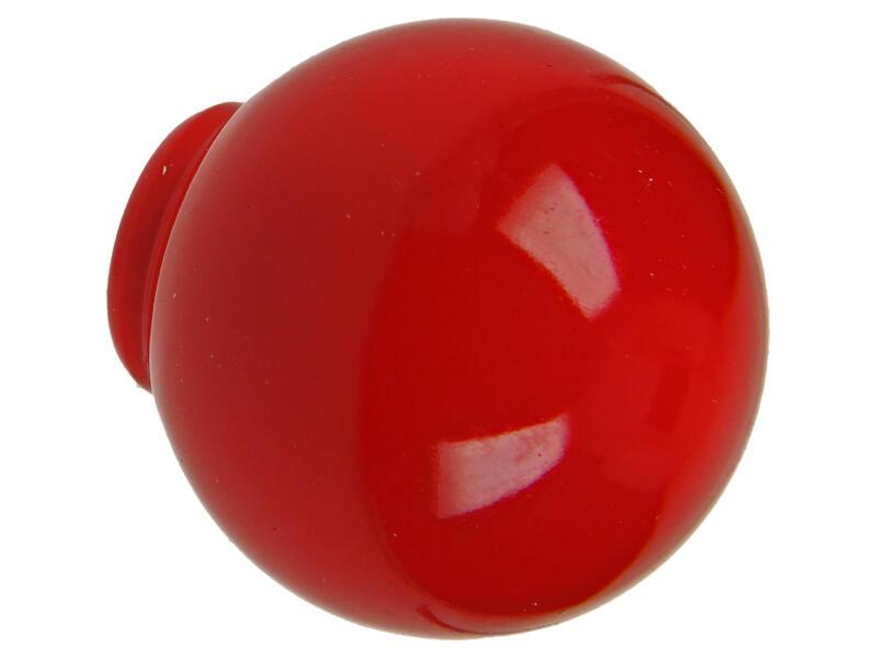 Sam Bouton de meuble boule 29mm matière synthétique rouge 2 pièces