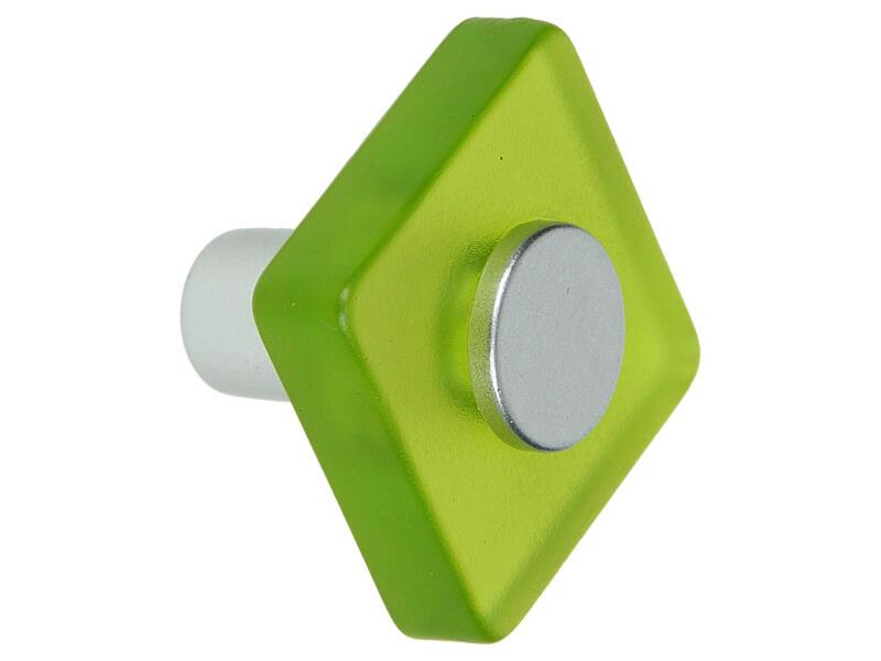Sam Bouton de meuble carré matière synthétique vert 2 pièces