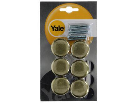 Yale Bouton de meuble champignon 32mm bronze 6 pièces