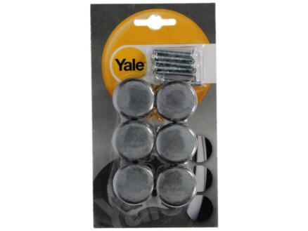 Yale Bouton de meuble champignon 32mm fer 6 pièces